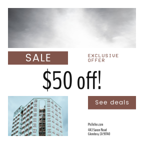 Image design template for sales - #banner #businnes #sales #CallToAction #salesbanner #business #cloudy #apartment #housing #camping #residence #perspective #open #nature #window
