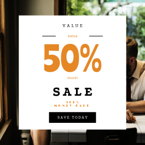 Image design template for sales - #banner #businnes #sales #CallToAction #salesbanner #talking #corporate #woman #brainstorming #meeting #businesswoman #window