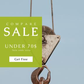 Image design template for sales - #banner #businnes #sales #CallToAction #salesbanner #attach #tool #minimal #crane #wire #minimalism #hook #lift #detail