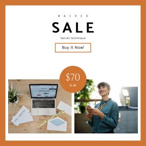 Image design template for sales - #banner #businnes #sales #CallToAction #salesbanner #desk #laptop #outerwear #employee #card #networking #startup #sale