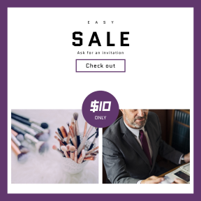 Image design template for sales - #banner #businnes #sales #CallToAction #salesbanner #makeup #restaurant #suit #pastel #up #worker