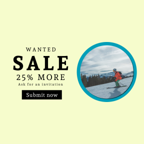 Image design template for sales - #banner #businnes #sales #CallToAction #salesbanner #color #fast #skis #winter #ski