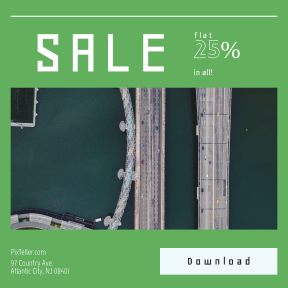 Image design template for sales - #banner #businnes #sales #CallToAction #salesbanner #drone #engineer #bridge #water #traffic #road #above #urban #car #helix