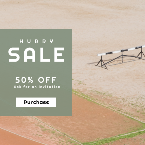 Image design template for sales - #banner #businnes #sales #CallToAction #salesbanner #exercise #athletic #track #hurdle #athlete #marathon #minimalism #sports
