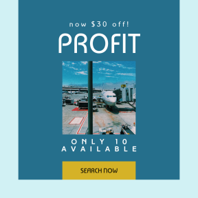 Image design template for sales - #banner #businnes #sales #CallToAction #salesbanner #yellow #blue #travel #sky #bright #transport