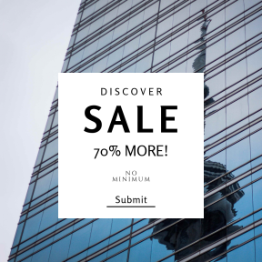 Image design template for sales - #banner #businnes #sales #CallToAction #salesbanner #with #reflection #commercial #corporate #tower #window #front #metropolis