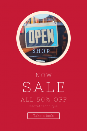 Portrait design template for sales - #banner #businnes #sales #CallToAction #salesbanner #black #circle #reflection #letter #shape #essentials #geometric #blur #store