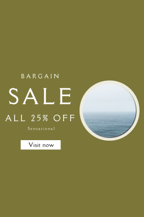 Portrait design template for sales - #banner #businnes #sales #CallToAction #salesbanner #lock #screen #iphone #fog #mist #blue #ocean