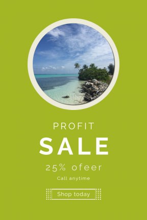Portrait design template for sales - #banner #businnes #sales #CallToAction #salesbanner #summer #island #coast #sea #landscape #blue