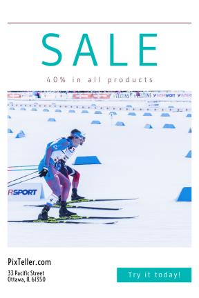 Portrait design template for sales - #banner #businnes #sales #CallToAction #salesbanner #sport #finland #lahti #cross-country #ioc #langrenn