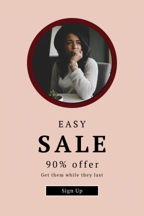Portrait design template for sales - #banner #businnes #sales #CallToAction #salesbanner #light #brunette #black #window #watch #wrist #vibe