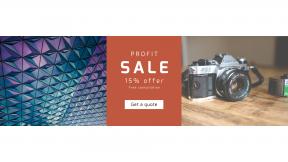 FullHD image template for sales - #banner #businnes #sales #CallToAction #salesbanner #triangles #blue #lens #cameras #reflex #wallpaper #accessory