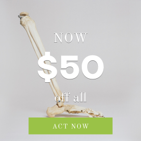 Image design template for sales - #banner #businnes #sales #CallToAction #salesbanner #anatomy #tibium #fibula #skeleton #bone #medical #foot #medic