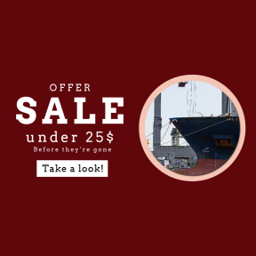 Image design template for sales - #banner #businnes #sales #CallToAction #salesbanner #sea #ship #shipping #water #containership #overtheocean #rust #detail #river #boat