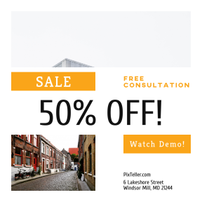 Image design template for sales - #banner #businnes #sales #CallToAction #salesbanner #building #city #cobbled #structure #daylighting #edge #headquarters
