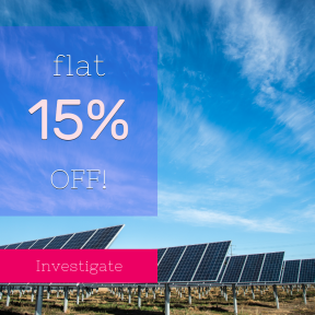 Image design template for sales - #banner #businnes #sales #CallToAction #salesbanner #power #panel #solar #daytime #energy #technology #wind #sky #cloud