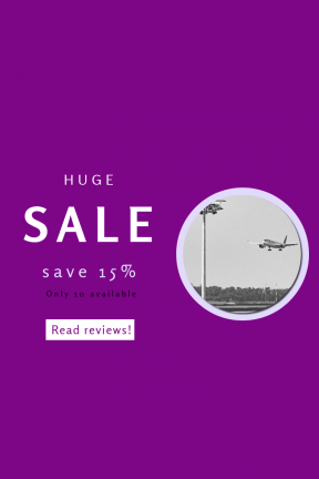 Portrait design template for sales - #banner #businnes #sales #CallToAction #salesbanner #plane #floodlight #woodland #wing #airplane #airbus #lights