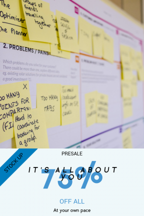Portrait design template for sales - #banner #businnes #sales #CallToAction #salesbanner #it #tool #method #print #solution #measure