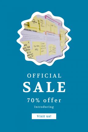 Portrait design template for sales - #banner #businnes #sales #CallToAction #salesbanner #swirly #ovals #circles #innovation #print