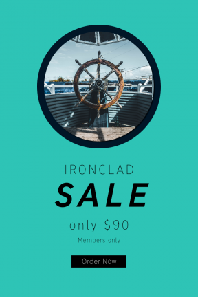 Portrait design template for sales - #banner #businnes #sales #CallToAction #salesbanner #ship #wheel #beach #water #steering