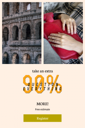 Portrait design template for sales - #banner #businnes #sales #CallToAction #salesbanner #hot #woman #structure #stone #tummy #colosseum #landmark #water #female #monument