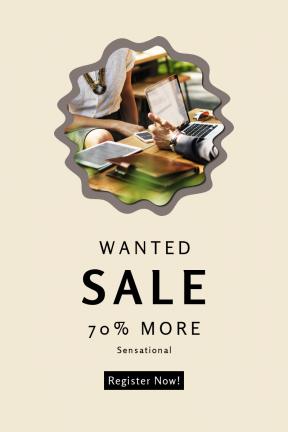Portrait design template for sales - #banner #businnes #sales #CallToAction #salesbanner #frames #grungy #man #sunglasses #phone #laptop #decorative #swirly