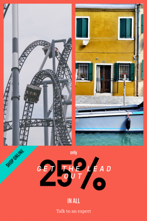 Portrait design template for sales - #banner #businnes #sales #CallToAction #salesbanner #twist #person #loop #water #amusement #canal #waterway #house #track #theme