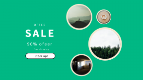 FullHD image template for sales - #banner #businnes #sales #CallToAction #salesbanner #shape #green #elbow #peak #view