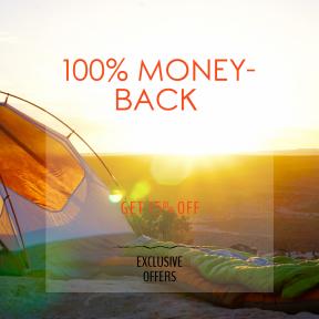 Image design template for sales - #banner #businnes #sales #CallToAction #salesbanner #tent #picture #bag #sunrise #valley #mamut #rei #bokeh
