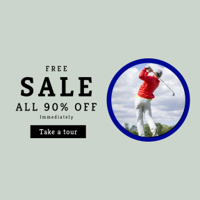 Image design template for sales - #banner #businnes #sales #CallToAction #salesbanner #club #male #sporty #sports #athletic #golf