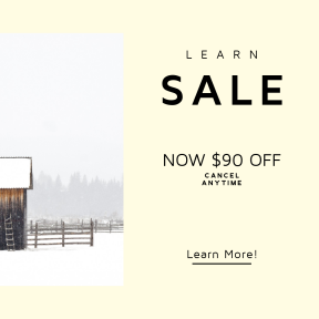 Image design template for sales - #banner #businnes #sales #CallToAction #salesbanner #wood #ladder #snow #farm #house #country #agriculture #white #cold #fence