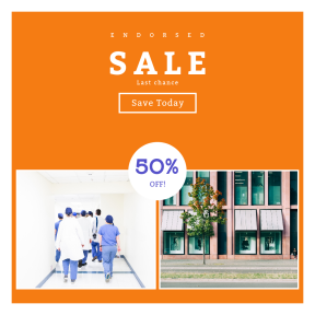 Image design template for sales - #banner #businnes #sales #CallToAction #salesbanner #surgery #healthcare #health #estate #white #medical #facade #coat #real #apartment