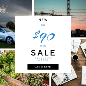 Image design template for sales - #banner #businnes #sales #CallToAction #salesbanner #workspace #countryside #smartphone #rural #plant #flat
