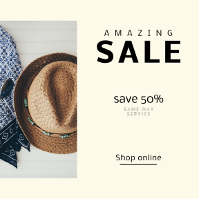 Image design template for sales - #banner #businnes #sales #CallToAction #salesbanner #white #recreation #scarf #pattern #glasses #blue #vacation #weekend #sunglasses
