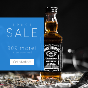 Image design template for sales - #banner #businnes #sales #CallToAction #salesbanner #watch #whiskey #daniels #bottle #urban #lowlife #typography #usa #dark