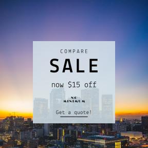 Image design template for sales - #banner #businnes #sales #CallToAction #salesbanner #sunrise #downtown #architecture #californium #skyline