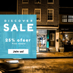 Image design template for sales - #banner #businnes #sales #CallToAction #salesbanner #residential #night #shop #structure #car #town #glass #business