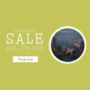Image design template for sales - #banner #businnes #sales #CallToAction #salesbanner #building #night #urban #city #skyscraper #hongkong #lights