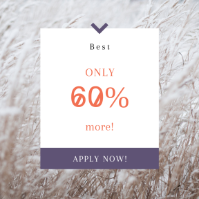 Image design template for sales - #banner #businnes #sales #CallToAction #salesbanner #nature #grass #cool #white #wildlife