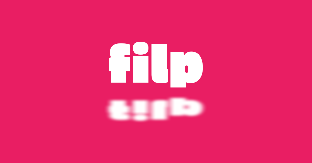Just a simple text #flip #text #logo Design  Template