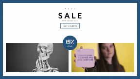 FullHD image template for sales - #banner #businnes #sales #CallToAction #salesbanner #skeleton #person #face #skull #woman #white #quote #black