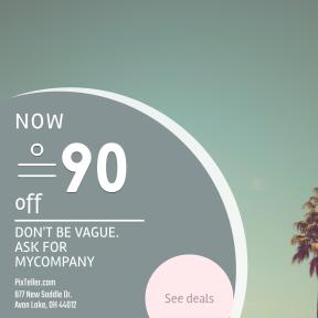 Image design template for sales - #banner #businnes #sales #CallToAction #salesbanner #californium #sky #credit #minimalist #palm