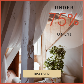 Image design template for sales - #banner #businnes #sales #CallToAction #salesbanner #couch #silhouette #sofabed #hotel #bed #lisbon #square