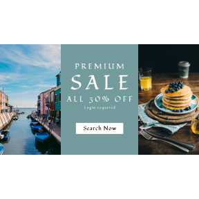 Image design template for sales - #banner #businnes #sales #CallToAction #salesbanner #houses #cutlery #town #cloth #neighbourhood #apartment #syrup #lined