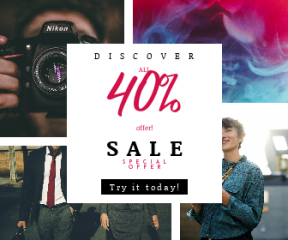 Square large web banner template for sales - #banner #businnes #sales #CallToAction #salesbanner #interaction #slr #water #black #photographer #woman #business #walking #blouse #phone