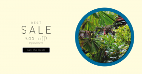 Card design template for sales - #banner #businnes #sales #CallToAction #salesbanner #geometric #sea #botany #jungle #leaves #plant #thailand #bangkok #garden