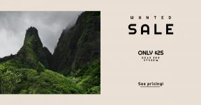 Card design template for sales - #banner #businnes #sales #CallToAction #salesbanner #cloudy #woodland #mist #green #peak #wallpaper #landscape