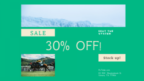 FullHD image template for sales - #banner #businnes #sales #CallToAction #salesbanner #mare #race #mammal #with #mountain #volcano #extreme #Jockeys