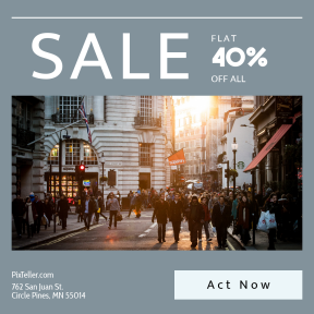 Image design template for sales - #banner #businnes #sales #CallToAction #salesbanner #sunlight #superdry #scene #crowd #building #street #shopping #london