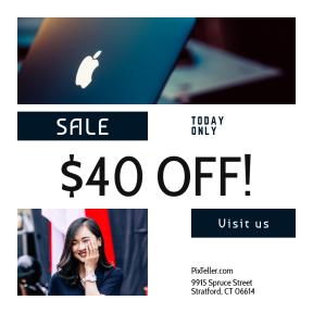 Image design template for sales - #banner #businnes #sales #CallToAction #salesbanner #product #work #business #cute #apple #mac #lip